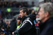 Fulham head coach Slavisa Jokanovic and Charlton Athletic Head Coach Jose Riga during the Sky Bet Championship match between Fulham and Charlton Athletic at Craven Cottage, London, England on 20 February 2016. Photo by Matthew Redman.