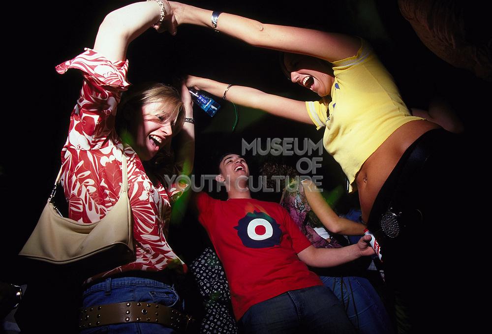 Clubbers dancing at Sugar shack Middlesborough April 2002