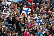 30.6.2012, Olympiastadion - Olympic Stadium, Helsinki, Finland..European Athletics Championship - Yleisurheilun EM-kisat..Yleisöä kaarrekatsomossa.