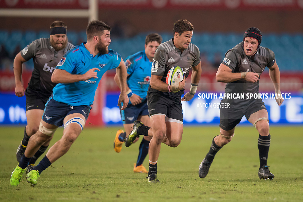 PRETORIA, SOUTH AFRICA - MAY 06: David Havili of the Crusaders scores a try during the Super Rugby match between Vodacom Bulls and Crusaders at Loftus Versfeld on May 06, 2017 in Pretoria, South Africa.<br /> (Photo by Anton Geyser/Gallo Images)
