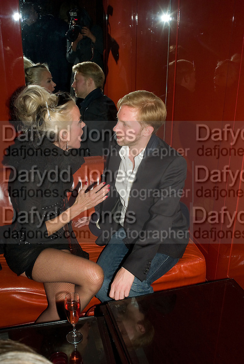 DAPHNE GUINNESS AND JAN OLESON, The Wonderland and Moet party. The Red Bar. Grosvenor House Hotel. Park Lane, London. 18 April 2008 *** Local Caption *** -DO NOT ARCHIVE-© Copyright Photograph by Dafydd Jones. 248 Clapham Rd. London SW9 0PZ. Tel 0207 820 0771. www.dafjones.com.