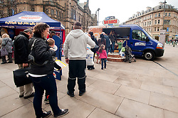 The Kingsmill Big Lunch Tour reaches Sheffield and puts the fun back into lunchtimes on Fargate Sheffield Wednesday...http://www.pauldaviddrabble.co.uk.11 April 2012 .Image © Paul David Drabble
