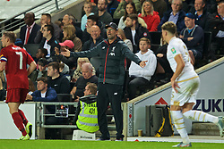 MILTON KEYNES, ENGLAND - Wednesday, September 25, 2019: Liverpool's manager Jürgen Klopp reacts during the Football League Cup 3rd Round match between MK Dons FC and Liverpool FC at Stadium MK. (Pic by David Rawcliffe/Propaganda)