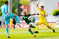Abass and Dobrovoljc during football match between NK Domzale and NK Olimpija Ljubljana in 35th Round of Prva liga Telekom Slovenije 2017/18, on May 27, 2018 in Sports park Domzale, Domzale, Slovenia. Photo by Ziga Zupan / Sportida
