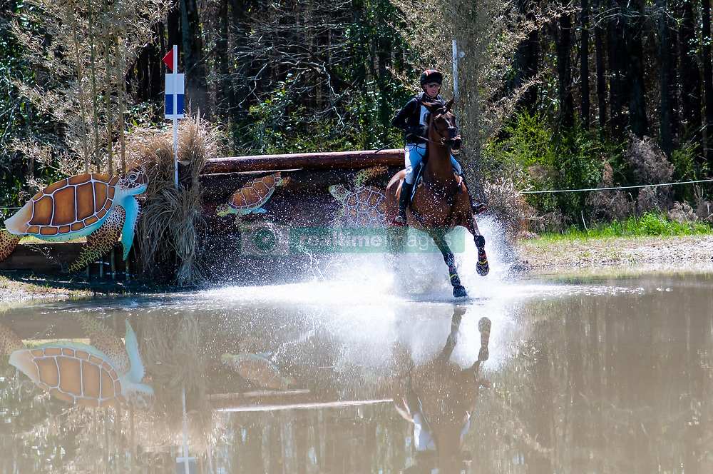March 22, 2019 - Raeford, North Carolina, US - March 23, 2019 - Raeford, N.C., USA - DOUG PAYNE of the United States riding VANDIVER competes in the cross country CCI-4S division at the sixth annual Cloud 11-Gavilan North LLC Carolina International CCI and Horse Trial, at Carolina Horse Park. The Carolina International CCI and Horse Trial is one of North AmericaÃ•s premier eventing competitions for national and international eventing combinations, hosting International competition at the CCI2*-S through CCI4*-S levels and National levels of Training through Advanced. (Credit Image: © Timothy L. Hale/ZUMA Wire)