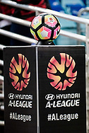 October 08, 2016: Hyundai A=League ball at Round 1 of the 2016 Hyundai A-League match, between Western Sydney Wanderers and Sydney FC, played at ANZ Stadium in Sydney. Sydney FC won the game 4-0.
