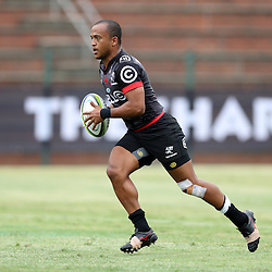 Rhyno Smith of the Cell C Sharks during The Cell C Sharks Pre Season warm up game 1,The Cell C Sharks B and the Toyota Cheetahs B,at King Zwelithini Stadium, Umlazi, Durban, South Africa. Friday, 3rd February 2017 (Photo by Steve Haag)