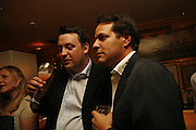 Bruce Mckelvie and Brent Hoberman, Plum Sykes, book launch party, Annabel's, Berkeley Square, London, W1,10 May 2006.  Matthew Williamson, Catherine Vautrin, Laudomia Pucci host party to celebrate 'The Debutante Divorcee'. ONE TIME USE ONLY - DO NOT ARCHIVE  © Copyright Photograph by Dafydd Jones 66 Stockwell Park Rd. London SW9 0DA Tel 020 7733 0108 www.dafjones.com