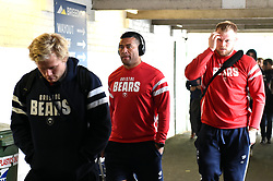 Siale Piutau and the rest of the Bristol Bears team arrive at Welford Road - Mandatory byline: Patrick Khachfe/JMP - 07966 386802 - 27/04/2019 - RUGBY UNION - Welford Road - Leicester, England - Leicester Tigers v Bristol Bears - Gallagher Premiership Rugby