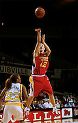 Tennessee recruit Angie Bjorklud puts up a jumper during the McDonald's All American High School Basketball Games at Freedom Hall in Louisville, Kentucky on March 28, 2007.