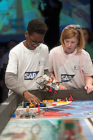 SAP FIRST LEGO League in Galway, where 28 teams from around the country battle it out to become Irelandís junior robotics champions 2016. Photo:Andrew Downes, xposure.