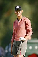 March 26, 2004; Rancho Mirage, CA, USA;  14 year old amateur Michelle Wie hangs out at the 2nd hole during the 2nd round of the LPGA Kraft Nabisco golf tournament held at Mission Hills Country Club.  Wie finished the day  with an even par 72.<br />