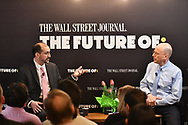 The WSJ The Future of: cryptocurrency<br /> A look ahead at the kinetic and rapidly changing world of blockchain and cryptocurrencies with Paul Vigna, Cryptocurrency Reporter for The Wall Street Journal, and John Bussey, associate editor of The Wall Street Journal, in New York City on February 8, 2018. (photo by Gabe Palacio)