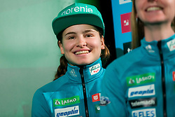 Nika Kriznar during press conference of Slovenian Men and Woman national Ski Jumping team, on November 28, 2017 in Pivovarna Union, Ljubljana, Slovenia. Photo by Ziga Zupan / Sportida