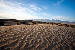 Sand dunes, Mesquite Dunes, Death Valley National Park, California, United States of America