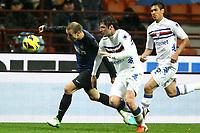 """Rodrigo Palacio Inter Andrea Poli Sampdoria<br /> Milano 31/10/2012 Stadio """"S.Siro""""<br /> Football Calcio Serie A 2012/13<br /> Inter v Sampdoria<br /> Foto Insidefoto Paolo Nucci"""