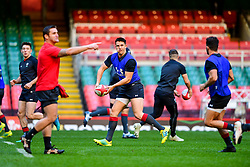Tomos Williams takes part in the training session - Photo mandatory by-line: Ryan Hiscott/JMP - 29/10/2018 - RUGBY - Principality Stadium - Cardiff, Wales - Autumn Series - Wales Rugby Open Training Session