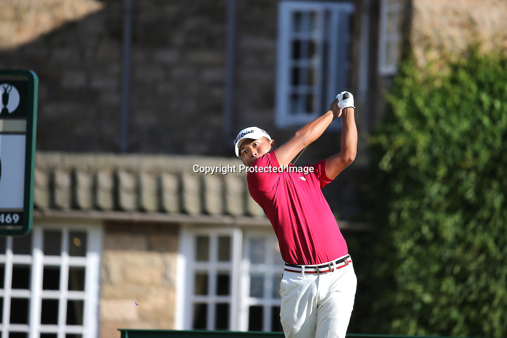 Satoshi Kodaira (JPN),<br /> JULY 18, 2013 - Golf :<br /> Satoshi Kodaira of Japan in action on 10th hole during the first round of the 142nd British Open Championship at Muirfield in Gullane, East Lothian, Scotland. (Photo by Koji Aoki/AFLO SPORT)