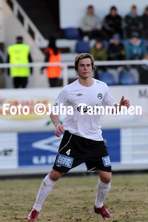 19.04.2010, Tehtaankentt?, Valkeakoski..Veikkausliiga 2010, FC Haka - FC TPS Turku..Markus Joenm?ki - Haka.©Juha Tamminen.