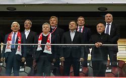 14.10.2014, Nationalstadium, Warsaw, POL, UEFA Euro Qualifikation, Polen vs Schottland, Gruppe D, im Bild JERZY BUZEK ANDRZEJ BIERNAT ALEKSANDER KWASNIEWSKI ZBIGNIEW BONIEK JANUSZ PIECHOCINSKI MAREK KOZMINSKI KAZIMIERZ NYCZ EUGENIUSZ NOWAK // during the UEFA EURO 2016 Qualifier group D match between Poland and Scotland at the Nationalstadium in Warsaw, Poland on 2014/10/14. EXPA Pictures © 2014, PhotoCredit: EXPA/ Newspix/ Michal Chwieduk<br /> <br /> *****ATTENTION - for AUT, SLO, CRO, SRB, BIH, MAZ, TUR, SUI, SWE only*****
