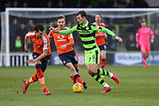 Forest Green Rovers Christian Doidge(9) runs forward during the EFL Sky Bet League 2 match between Forest Green Rovers and Luton Town at the New Lawn, Forest Green, United Kingdom on 16 December 2017. Photo by Shane Healey.