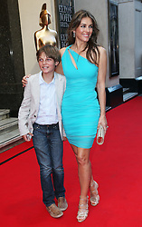 Liz Hurley and her son Damian arriving at the first BRIT's Icon Award in London, Monday, 2nd September 2013. Picture by Stephen Lock / i-Images