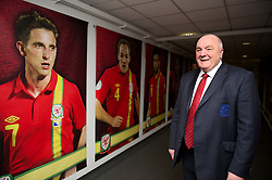 SWANSEA, WALES - Tuesday, March 26, 2013: FAW President Trevor Lloyd-Hughes pictured before the 2014 FIFA World Cup Brazil Qualifying Group A match against Croatia at the Liberty Stadium. (Pic by David Rawcliffe/Propaganda)