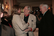 Deborah Bosley, Peter O'Toole and Richard Ingrams. Oldie of the Year Awards. Simpsons-in-the-Strand. London. 13 March 2007.  -DO NOT ARCHIVE-© Copyright Photograph by Dafydd Jones. 248 Clapham Rd. London SW9 0PZ. Tel 0207 820 0771. www.dafjones.com.