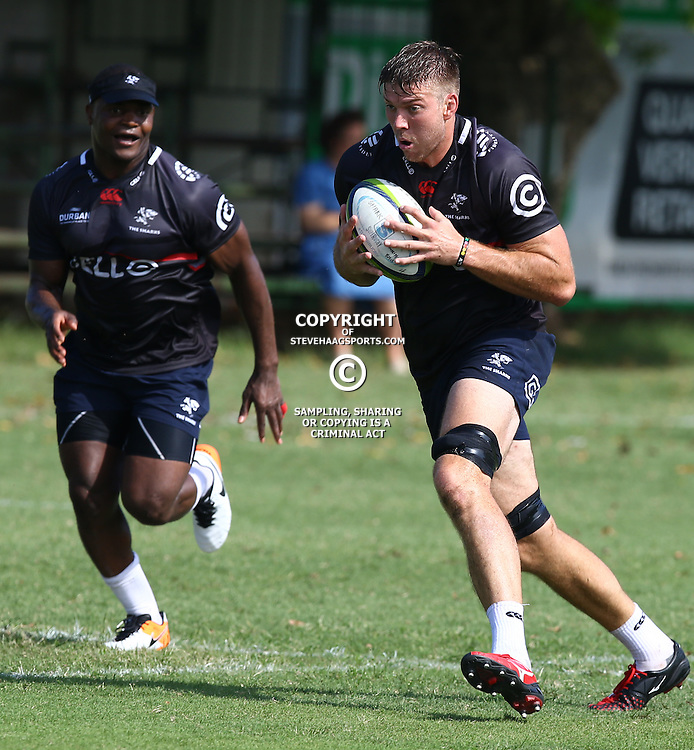 Stephan Lewies during The Cell C Sharks Pre Season training, session at Growthpoint Kings Park in Durban, South Africa. 16 February 2017(Photo by Steve Haag)<br /> <br /> images for social media must have consent from Steve Haag