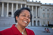 Sharon Lavinge outsdie of the State Capitol after attending the Congressional Convening on Environmental Justice.