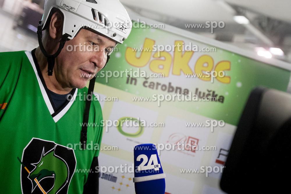 during Humanitarian hockey derby of legends between Olimpija and Jesenice, on 7 March 2014, in Hala Tivoli, Ljubljana, Slovenia. Photo by Urban Urbanc / Sportida.com