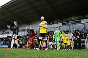 Teams leaving the tunnel before kick-off during the EFL Sky Bet Championship match between Burton Albion and Brentford at the Pirelli Stadium, Burton upon Trent, England on 18 March 2017. Photo by Richard Holmes.