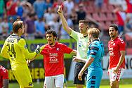 28-05-2017: Voetbal: FC Utrecht v AZ: Utrecht<br /> <br /> (L-R) Een rode kaart voor AZ tijdens het Eredivisie duel tussen FC Utrecht en AZ op 28 mei 2017 in stadion Galgenwaard tijdens de finale play-offs <br /> <br /> Finale Play-offs, Eredivisie - Seizoen 2016 / 2017<br /> <br /> Foto: Gertjan Kooij