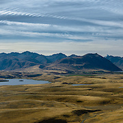 Panoramic view from summit of Mt John, Tekapo