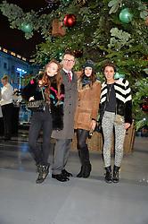 Left to right, OLIVIA GRANT, EWAN VENTERS, SARAH ANN MACKLIN and ROSANNA FALCONER at Skate At Somerset House with Fortnum & Mason on 16th November 2016.