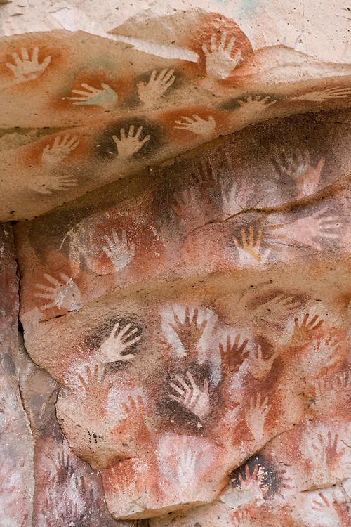 Argentina, Santa Cruz Province,  Cueva de los Manos (Cave of the Hands) UNESCO World Heritage Site in Patagonia