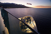 Western Maui, off Lahaina, seen from aboard the Rhapsody of the Seas at dawn.
