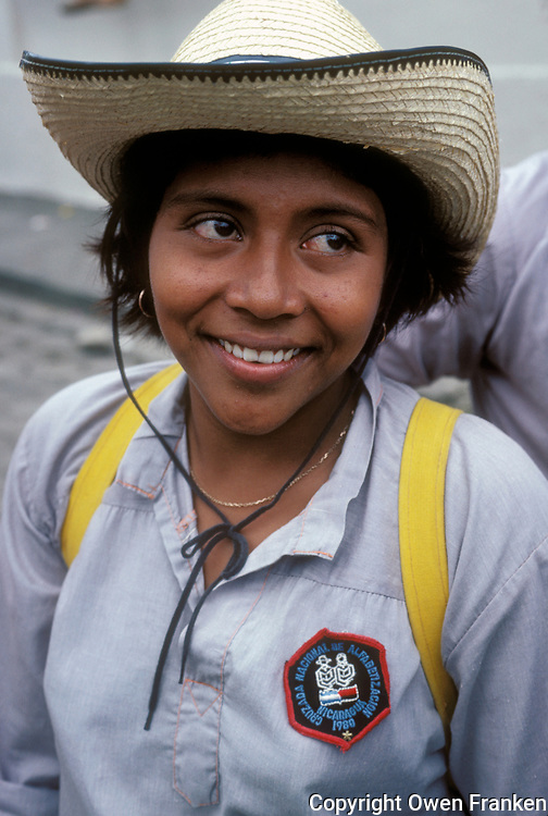 Literacy brigade-post revolutionary Nicaragua-photograph by Owen Franken