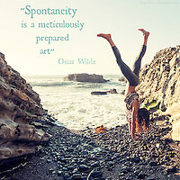Oscar Wilde quote on yoga pic.