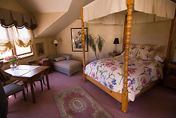 Room at the Old Thyme Inn B&B in Half Moon Bay,.San Mateo Coast of California, south of San Francisco.  Photo copyright Lee Foster, 510-549-2202, lee@fostertravel.com, www.fostertravel.com. Photo 439-30880