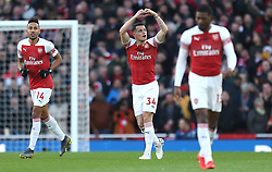 Arsenal's Granit Xhaka (centre) celebrates scoring his side's first goal of the game