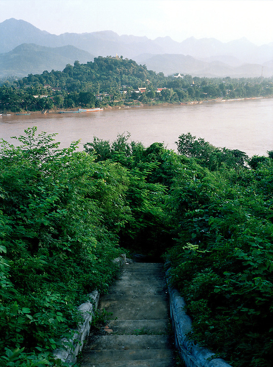 View of Luang Prabang across the Mekong River.