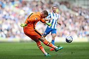 Blackburn Rovers goalkeeper Jason Steele (1) during the EFL Sky Bet Championship match between Brighton and Hove Albion and Blackburn Rovers at the American Express Community Stadium, Brighton and Hove, England on 1 April 2017.