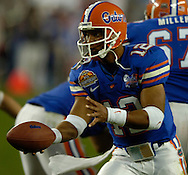 MORNING JOURNAL/DAVID RICHARD.Florida quarterback Chris Leak in action during the BCS National Championship game vs. Ohio State.