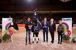 Van Der Putten Marieke, NED, Trafalgar<br /> KWPN Hengstenkeuring 2017<br /> © Dirk Caremans<br /> 03/02/17