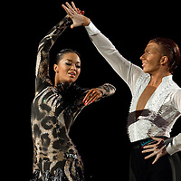 23 January 2010: Ekaterina Sokolova and Neil Jones perform during the Masters Bercy Latin and Ballroom (standard) Dancesport Championship 2010, at Palais Omnisports Paris Bercy, in Paris, France. .