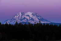 Purple sunset at Mt. Rainier, Washington