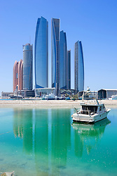 Etihad towers in Abu Dhabi United Arab Emirates