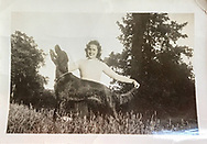 Bob Ciulla's mother Evelyn at 17 years old with her Irish Setter, Lady Sheila. Photo courtesy Bob Ciulla.