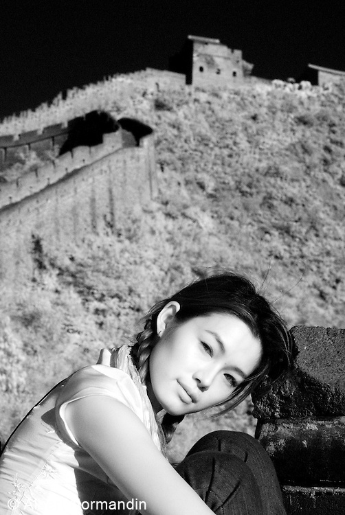 Yu Na on the Great Wall of China in the Heart of a Dragon movie, China